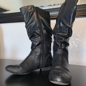 Lower East Side Black Below Knee Boots